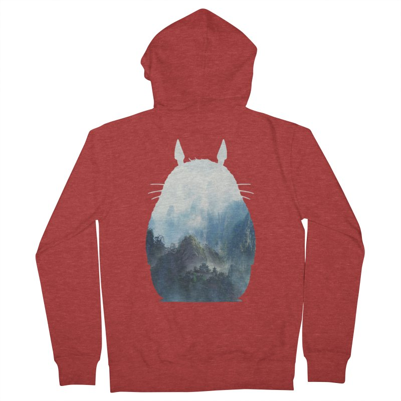 Totoro Men's Zip-Up Hoody by tonydesign's Artist Shop