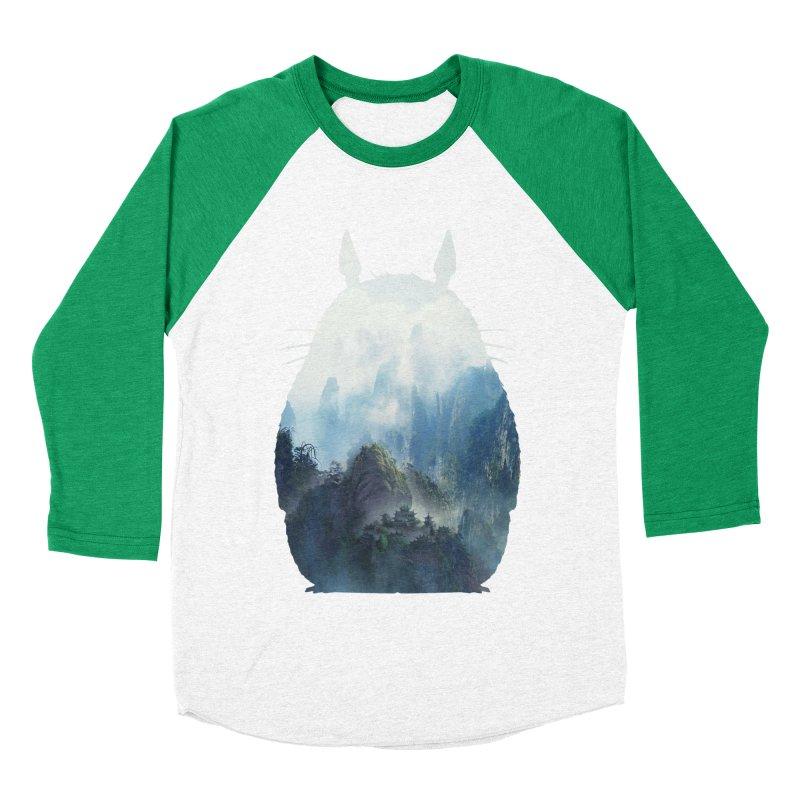 Totoro Women's Baseball Triblend T-Shirt by tonydesign's Artist Shop