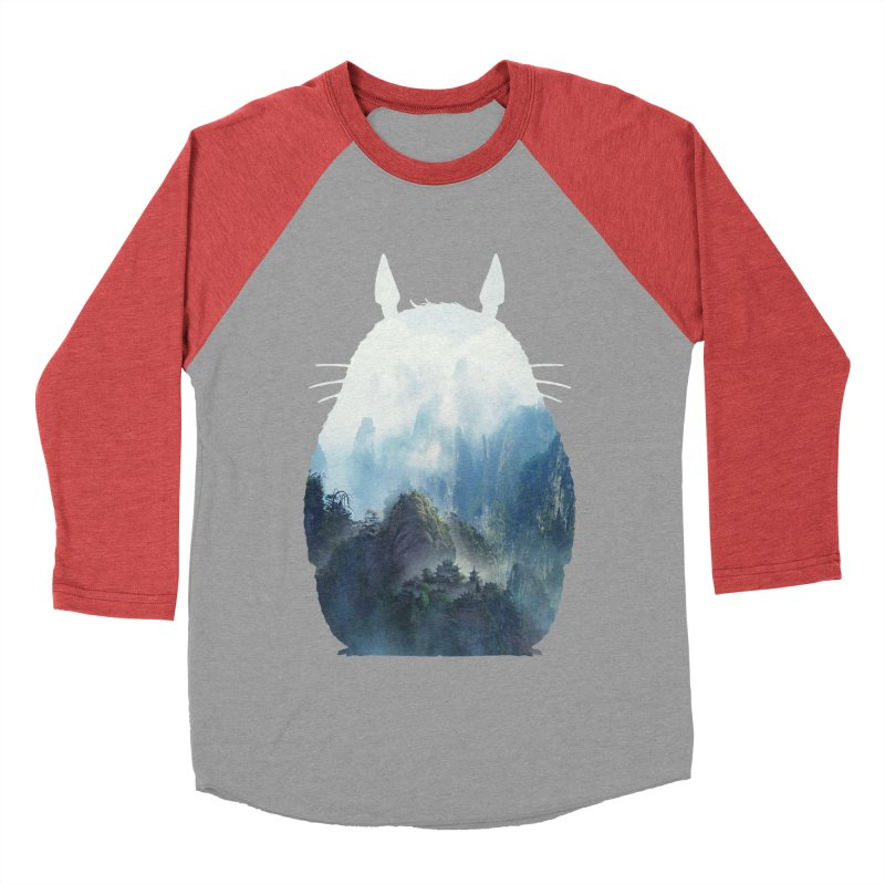 Totoro Women's Baseball Triblend T-Shirt by tonydesign's Artist Shop