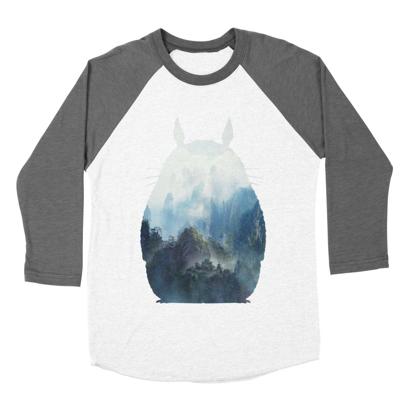 Totoro Men's Baseball Triblend T-Shirt by tonydesign's Artist Shop