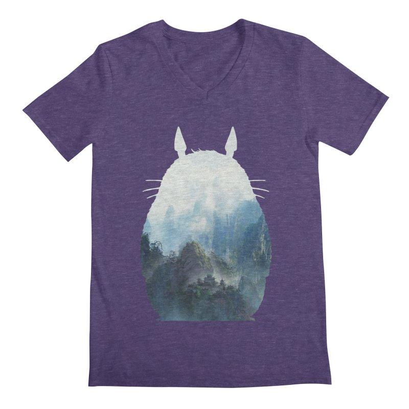 Totoro Men's V-Neck by tonydesign's Artist Shop