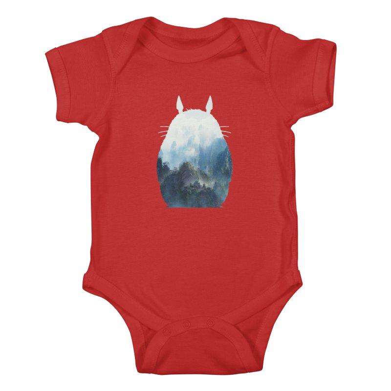 Totoro Kids Baby Bodysuit by tonydesign's Artist Shop