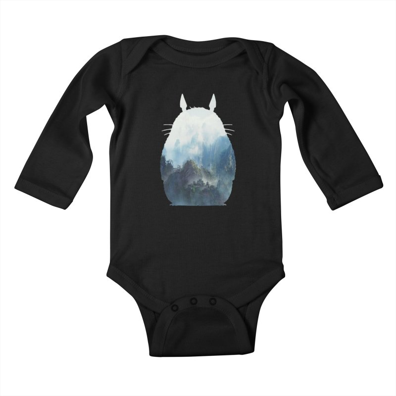 Totoro Kids Baby Longsleeve Bodysuit by tonydesign's Artist Shop