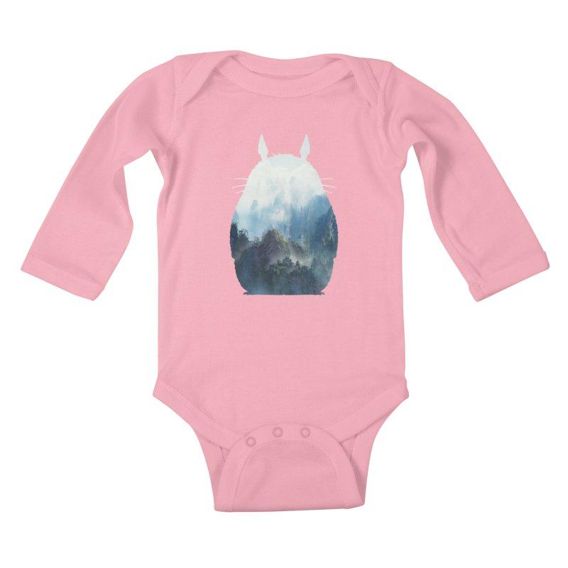 Totoro Kids Baby Longsleeve Bodysuit by tonydesign's Artist Shop