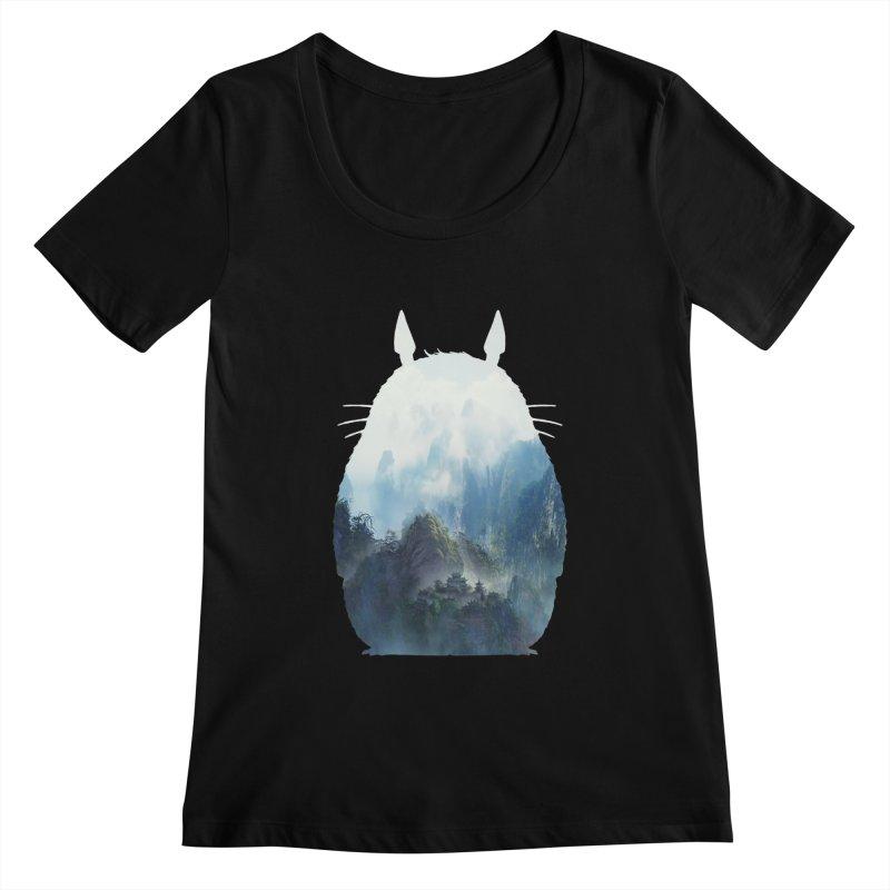 Totoro Women's Scoopneck by tonydesign's Artist Shop