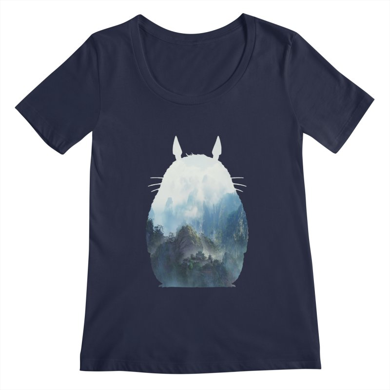 Totoro Women's Scoopneck by tonydesign's Artist Shop