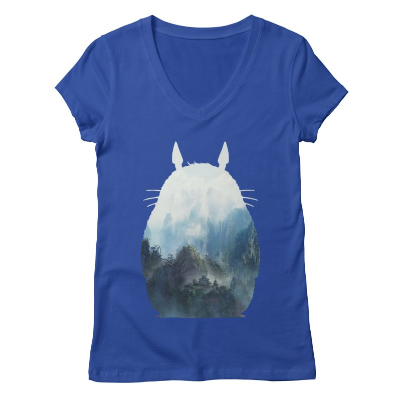 Totoro Women's V-Neck by tonydesign's Artist Shop