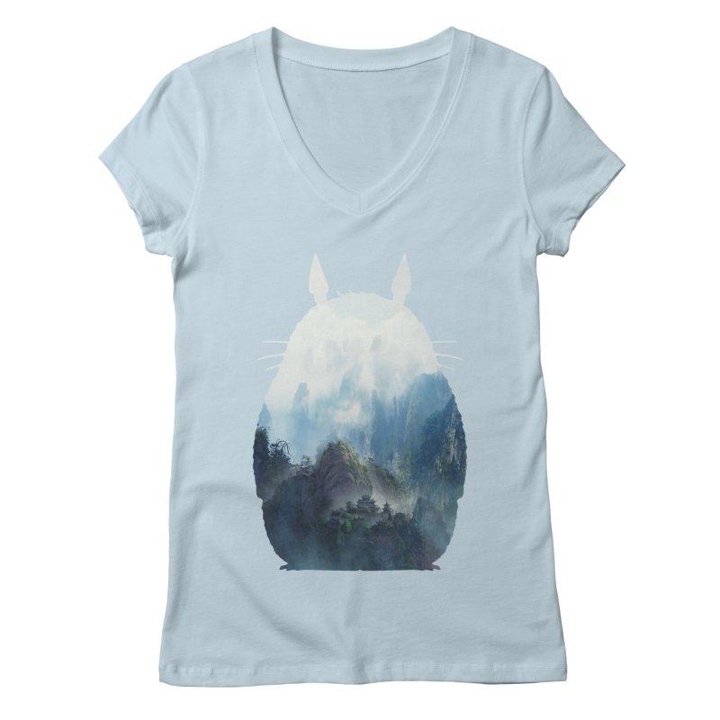 Totoro Women's V-Neck by tonydesign's Artist Shop