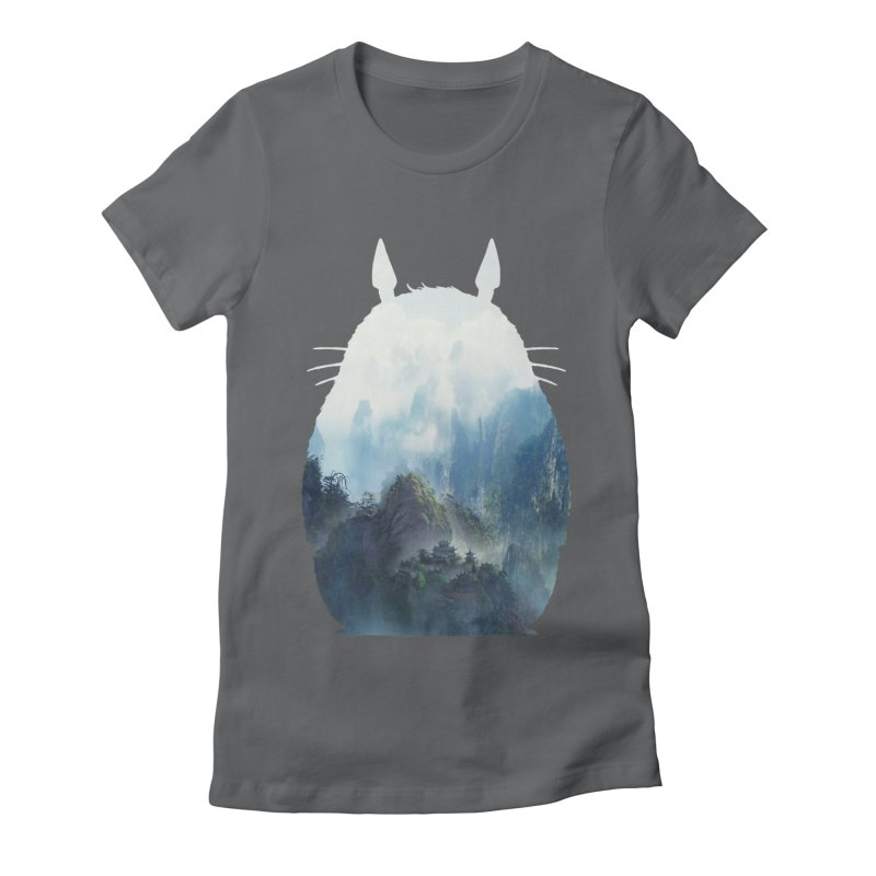 Totoro Women's Fitted T-Shirt by tonydesign's Artist Shop