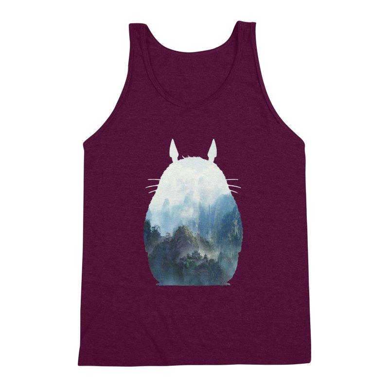 Totoro Men's Triblend Tank by tonydesign's Artist Shop