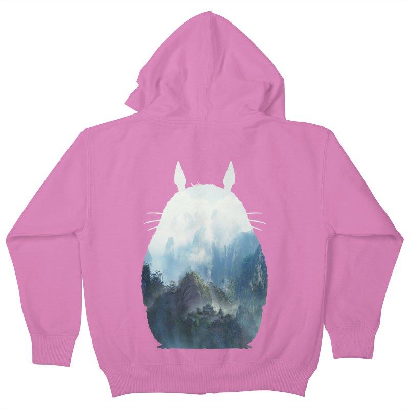 Totoro Kids Zip-Up Hoody by tonydesign's Artist Shop
