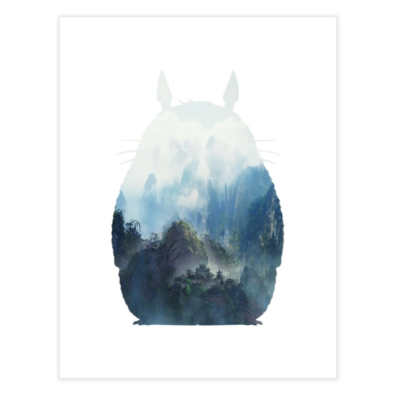 Totoro Home Fine Art Print by tonydesign's Artist Shop