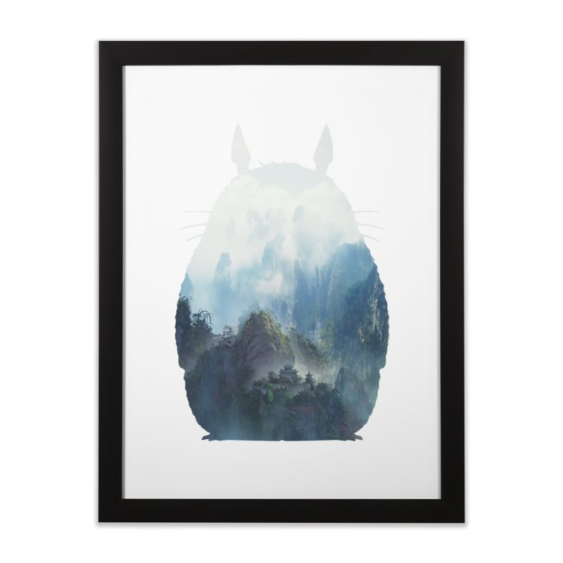 Totoro Home Framed Fine Art Print by tonydesign's Artist Shop