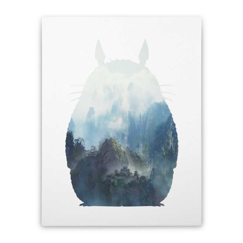 Totoro Home Stretched Canvas by tonydesign's Artist Shop