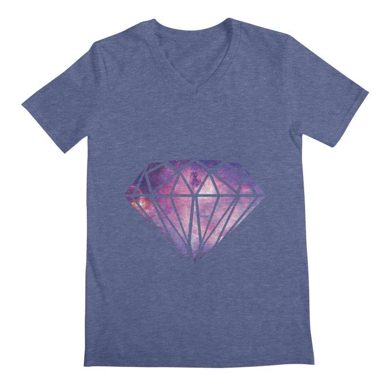 Galaxy Diamond Men's V-Neck by tonydesign's Artist Shop