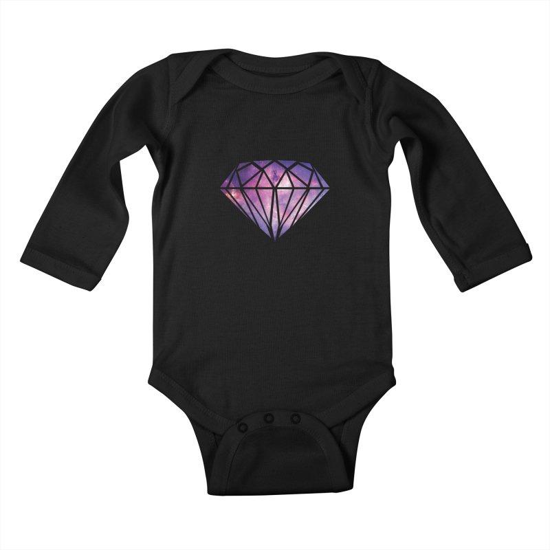 Galaxy Diamond Kids Baby Longsleeve Bodysuit by tonydesign's Artist Shop