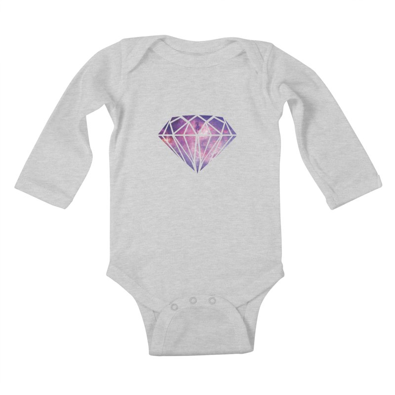 Galaxy Diamond Kids Baby Longsleeve Bodysuit by tonydesign's Artist Shop