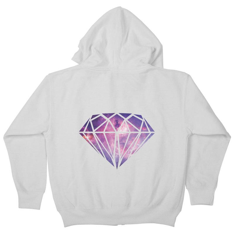 Galaxy Diamond Kids Zip-Up Hoody by tonydesign's Artist Shop