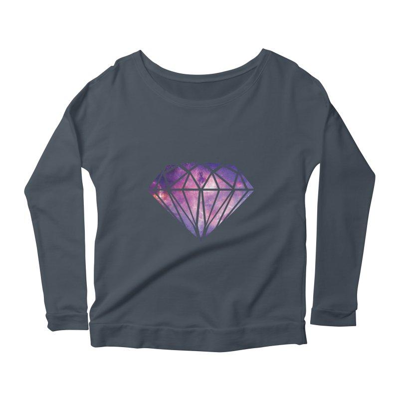 Galaxy Diamond Women's Longsleeve Scoopneck  by tonydesign's Artist Shop