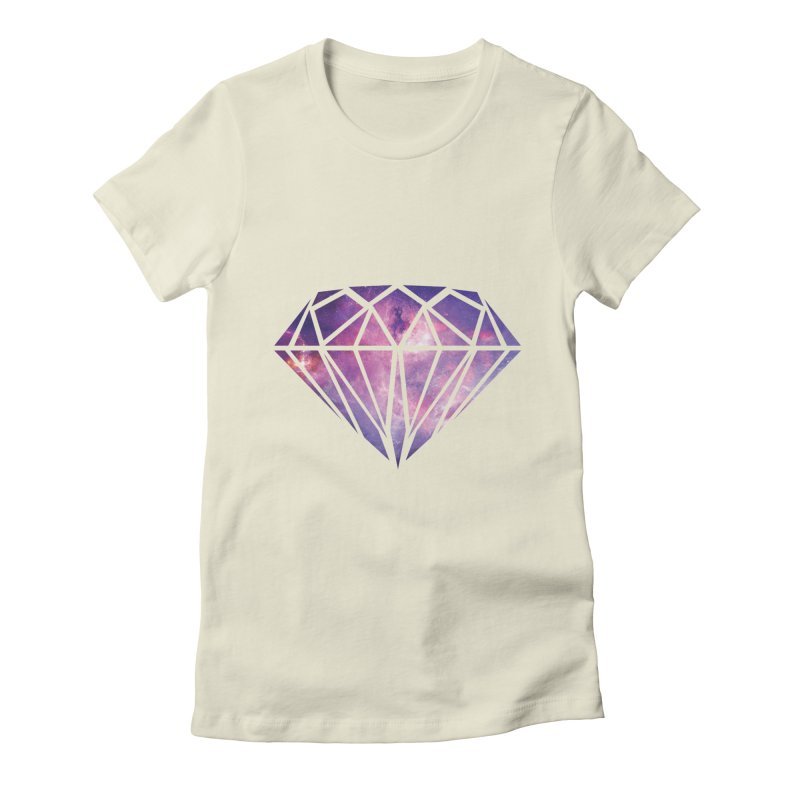 Galaxy Diamond Women's Fitted T-Shirt by tonydesign's Artist Shop