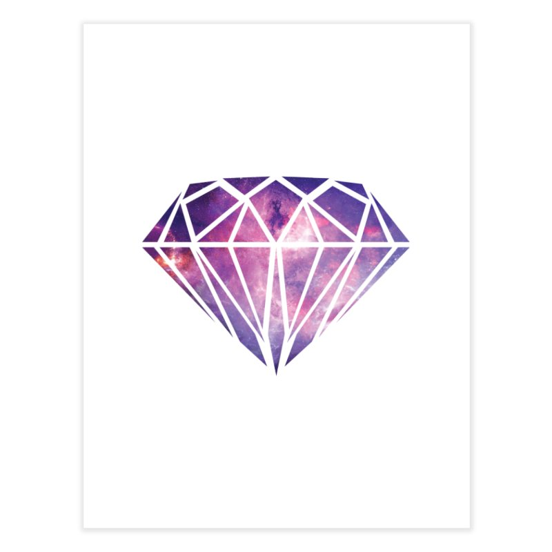 Galaxy Diamond Home Fine Art Print by tonydesign's Artist Shop