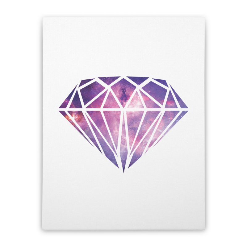 Galaxy Diamond Home Stretched Canvas by tonydesign's Artist Shop