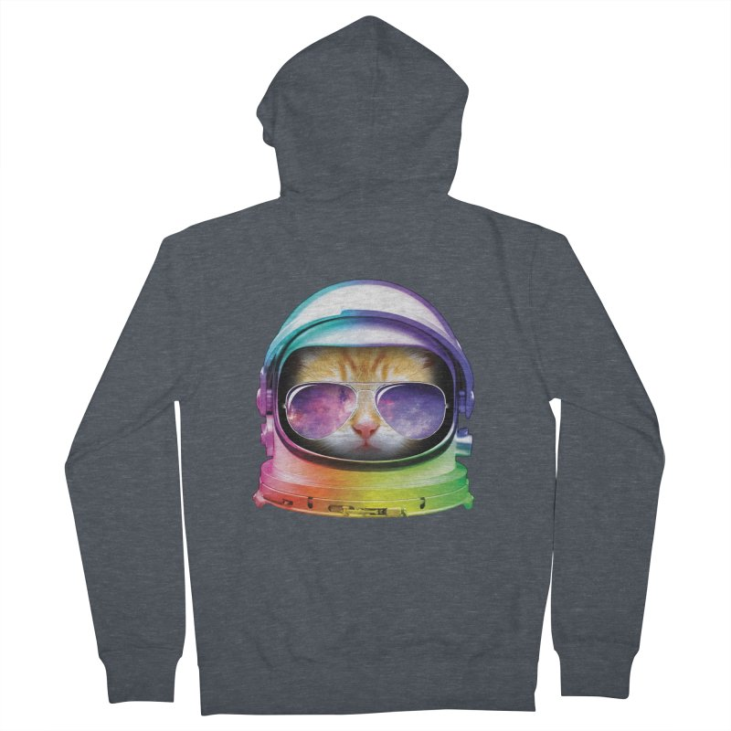 Kitty in Space Women's Zip-Up Hoody by tonydesign's Artist Shop