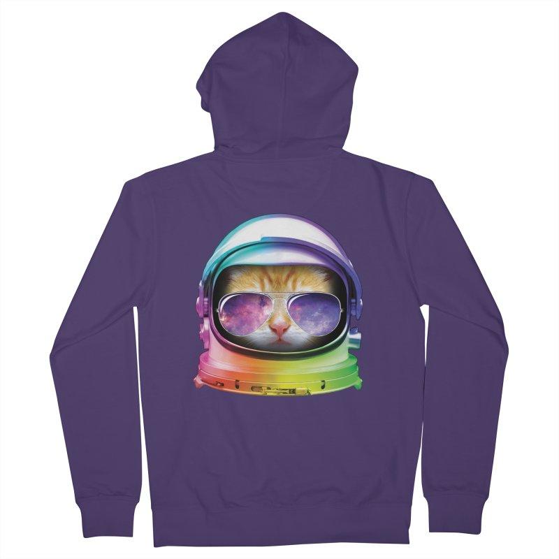 Kitty in Space Women's Zip-Up Hoody by tonydesign's Artist Shop