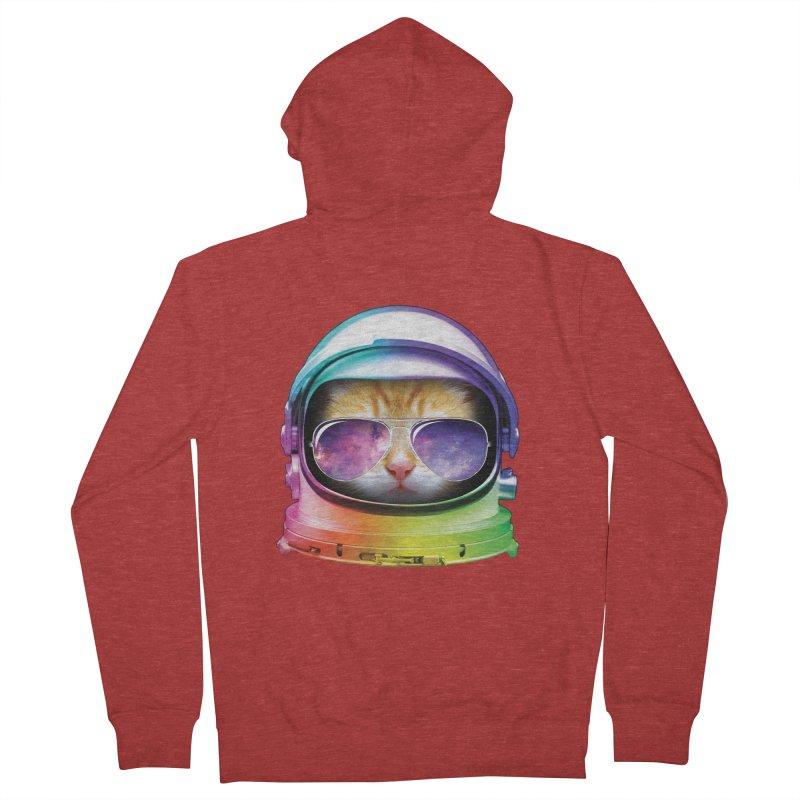 Kitty in Space Men's Zip-Up Hoody by tonydesign's Artist Shop