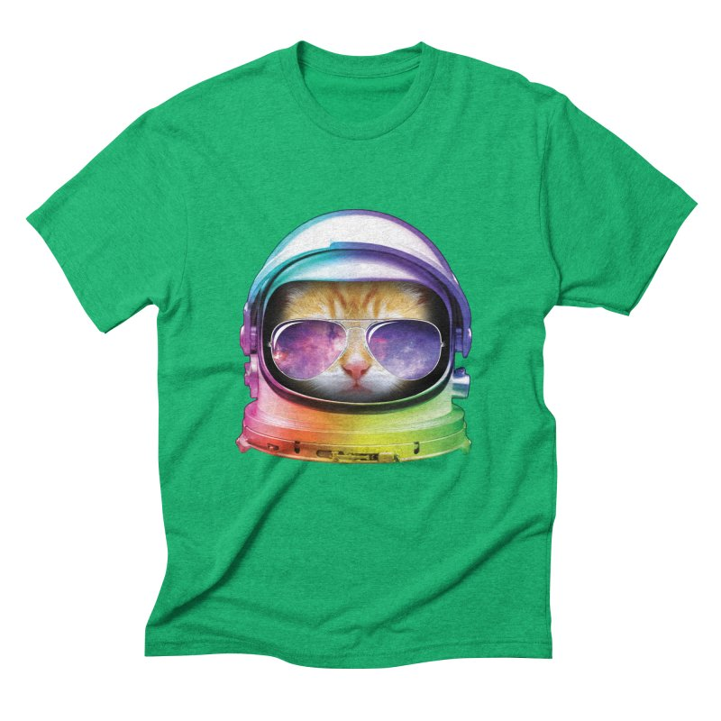 Kitty in Space Men's Triblend T-shirt by tonydesign's Artist Shop