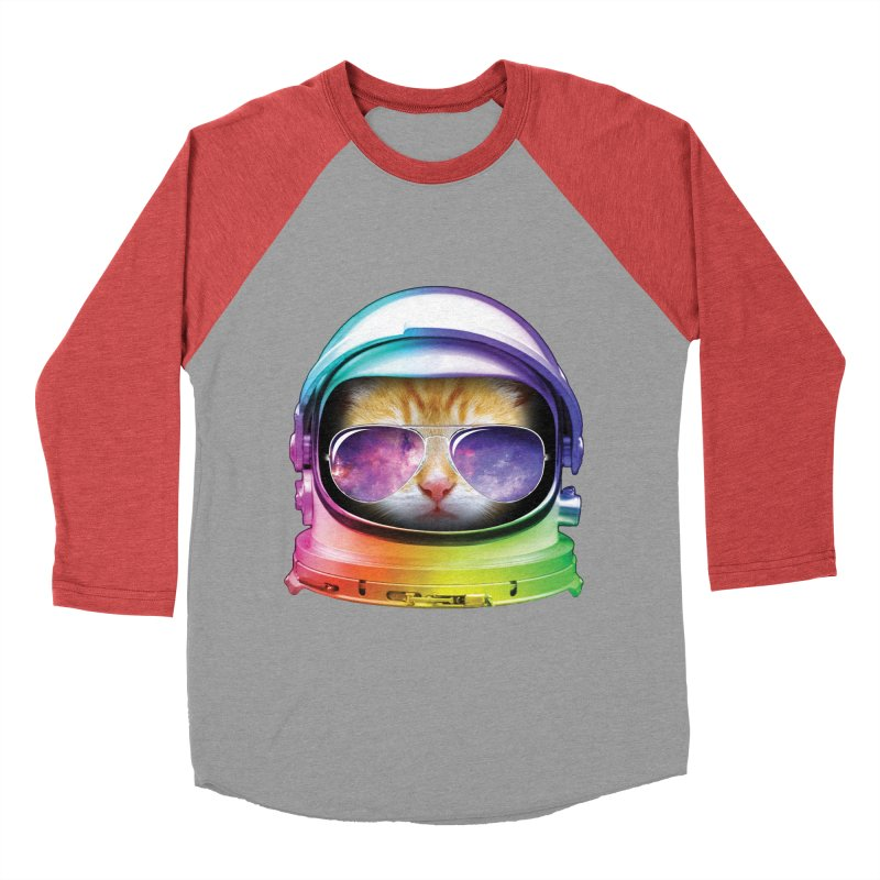 Kitty in Space Men's Baseball Triblend T-Shirt by tonydesign's Artist Shop