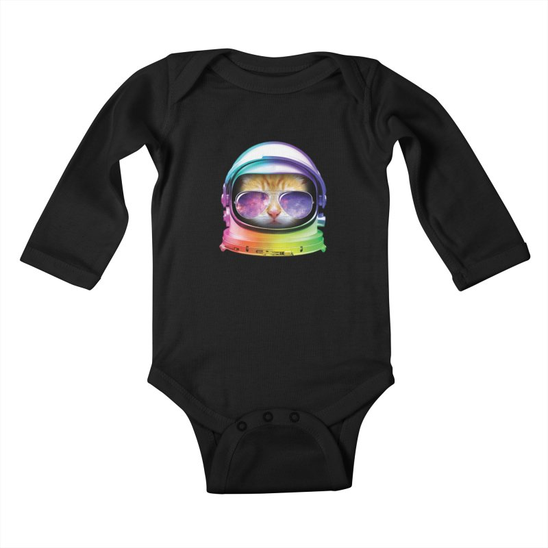 Kitty in Space Kids Baby Longsleeve Bodysuit by tonydesign's Artist Shop