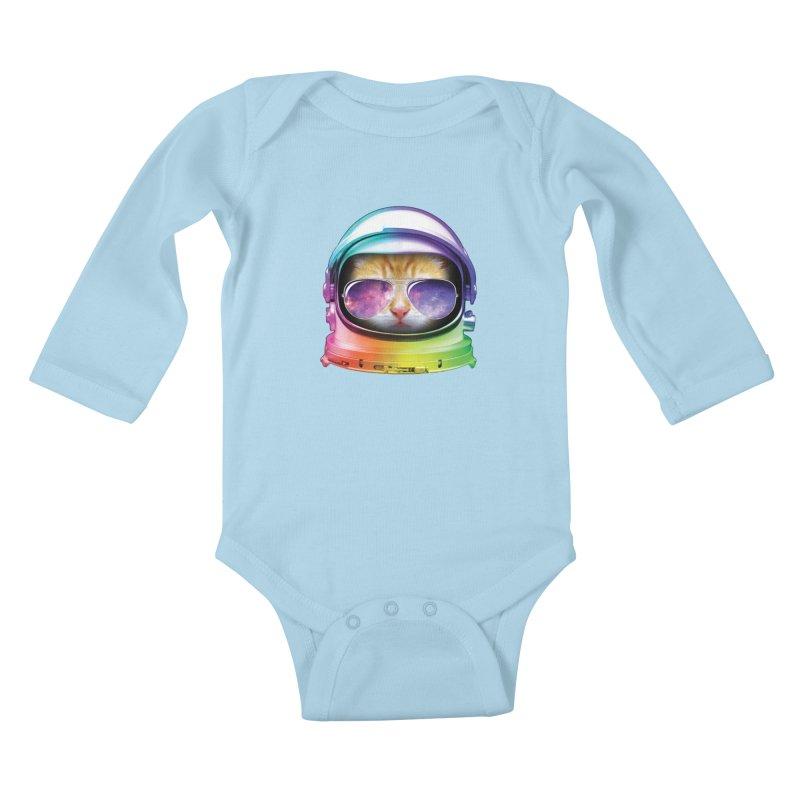 Kitty in Space Kids Baby Longsleeve Bodysuit by tonydesign's Artist Shop