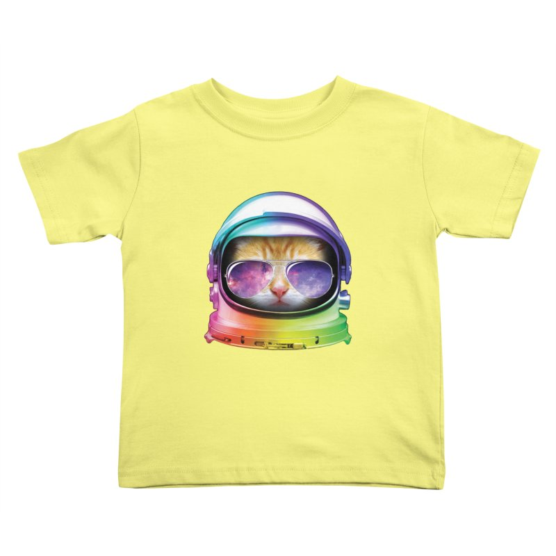 Kitty in Space Kids Toddler T-Shirt by tonydesign's Artist Shop