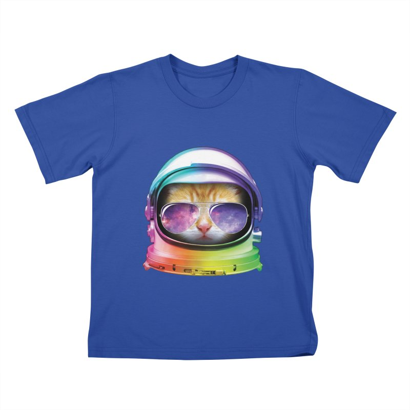 Kitty in Space Kids T-Shirt by tonydesign's Artist Shop
