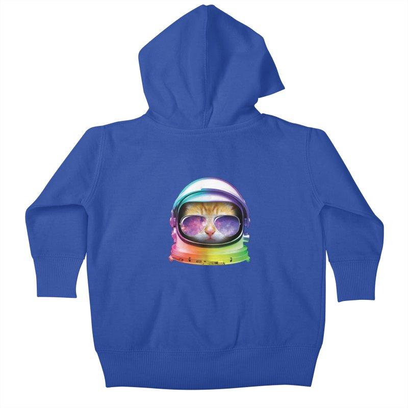 Kitty in Space Kids Baby Zip-Up Hoody by tonydesign's Artist Shop