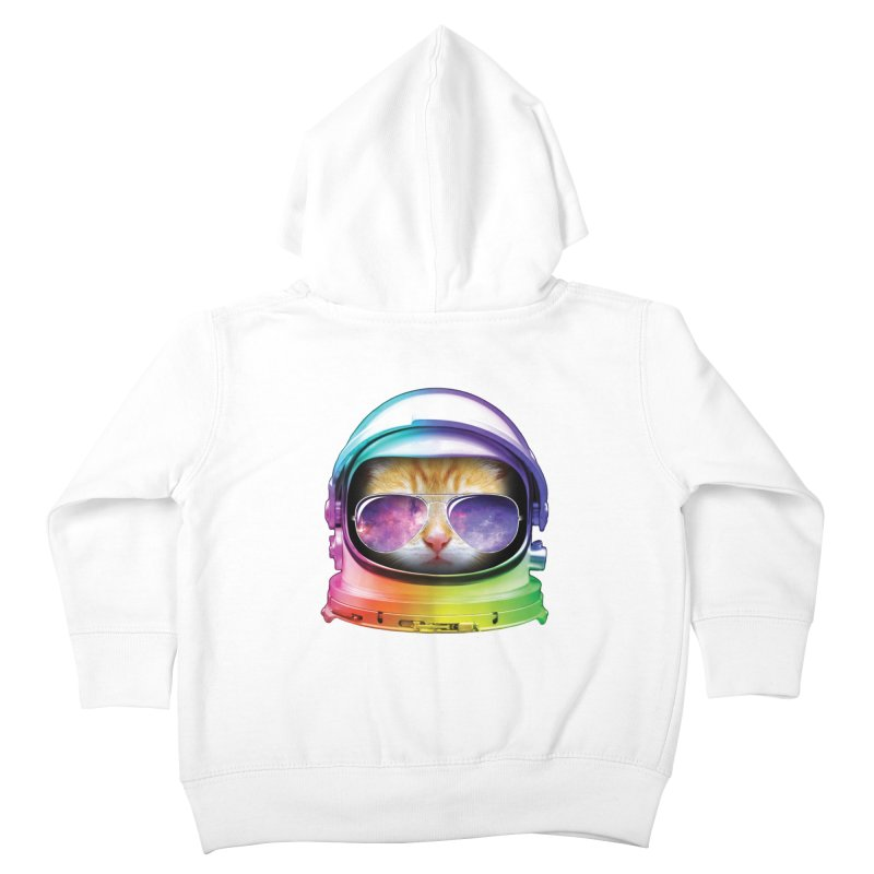 Kitty in Space Kids Toddler Zip-Up Hoody by tonydesign's Artist Shop