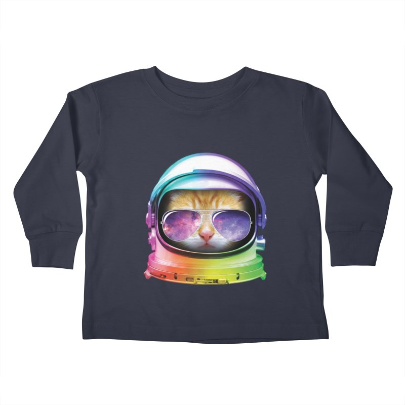 Kitty in Space Kids Toddler Longsleeve T-Shirt by tonydesign's Artist Shop