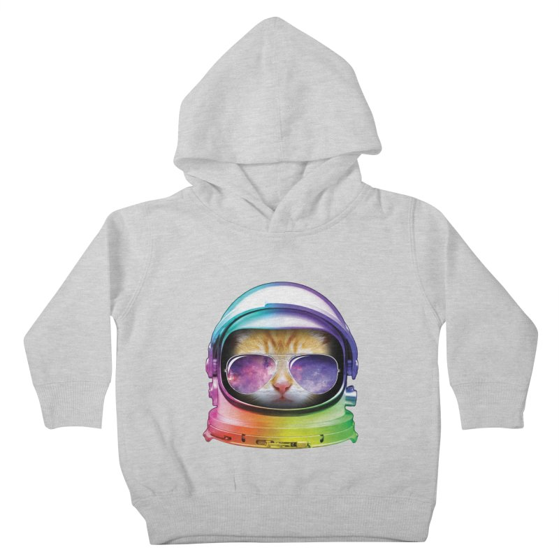 Kitty in Space Kids Toddler Pullover Hoody by tonydesign's Artist Shop