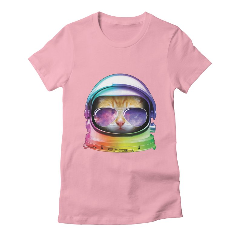 Kitty in Space Women's Fitted T-Shirt by tonydesign's Artist Shop