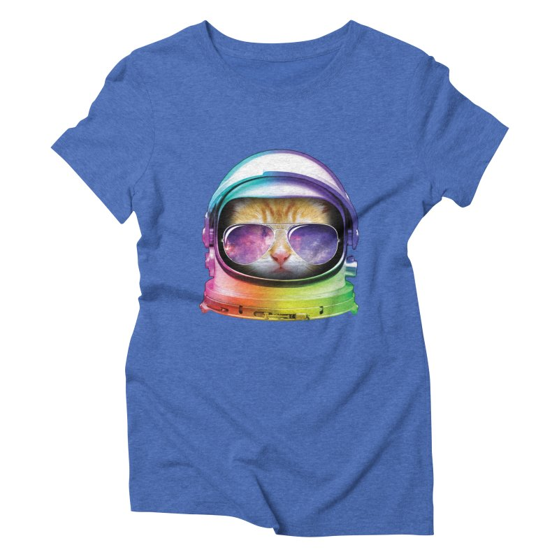 Kitty in Space Women's Triblend T-shirt by tonydesign's Artist Shop