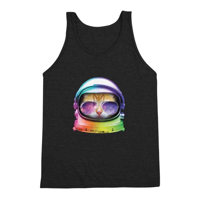 Kitty in Space Men's Triblend Tank by tonydesign's Artist Shop