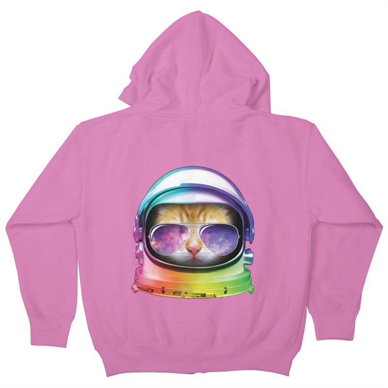 Kitty in Space Kids Zip-Up Hoody by tonydesign's Artist Shop