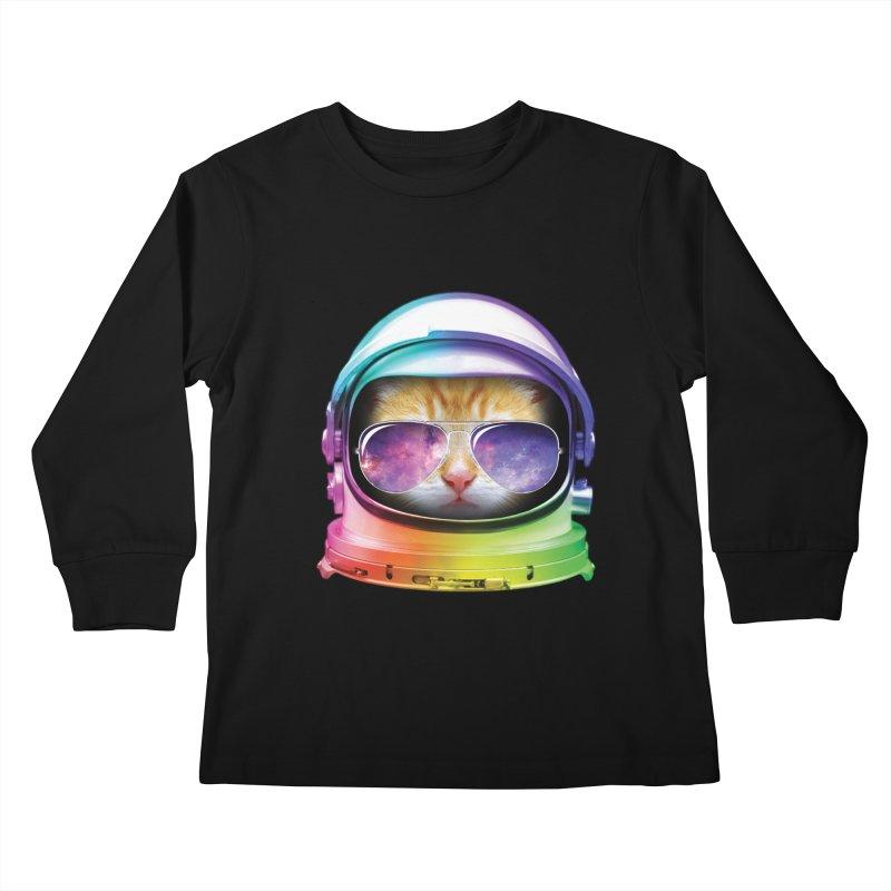 Kitty in Space Kids Longsleeve T-Shirt by tonydesign's Artist Shop