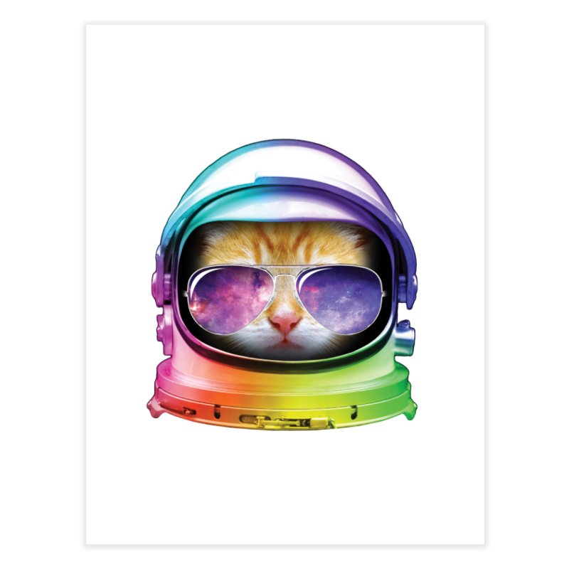 Kitty in Space Home Fine Art Print by tonydesign's Artist Shop