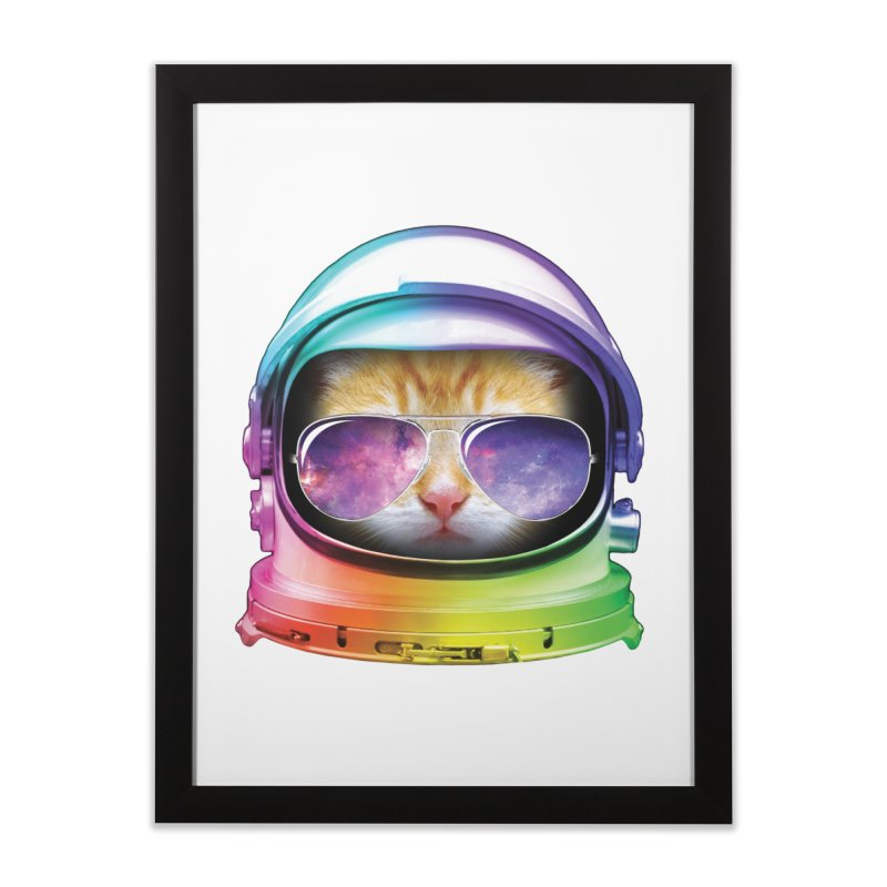 Kitty in Space Home Framed Fine Art Print by tonydesign's Artist Shop