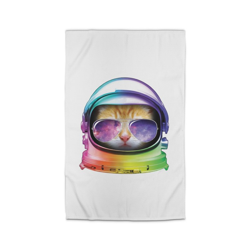 Kitty in Space Home Rug by tonydesign's Artist Shop
