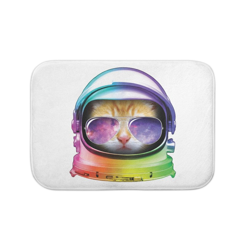 Kitty in Space Home Bath Mat by tonydesign's Artist Shop