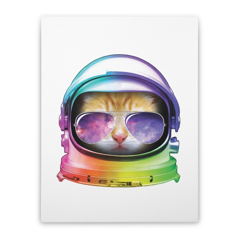 Kitty in Space Home Stretched Canvas by tonydesign's Artist Shop