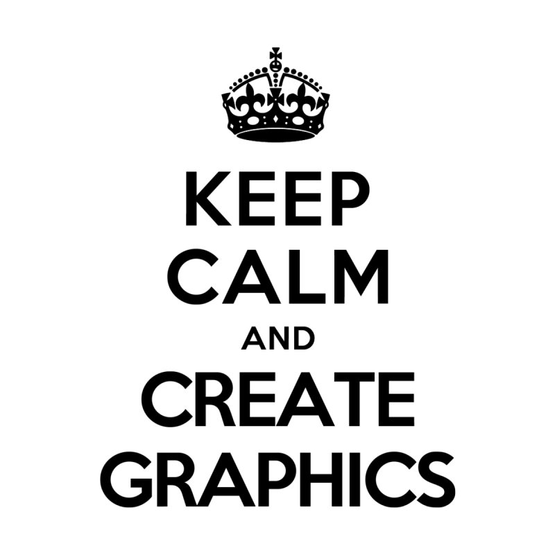 Keep Calm and Create Graphics Men's Triblend Tank by tonydesign's Artist Shop